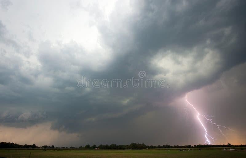 雷和闪电 图库摄影