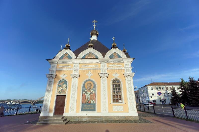 雷宾斯克,俄罗斯 - 6月3日 2016年 圣尼古拉斯教堂在雷宾斯克 库存图片