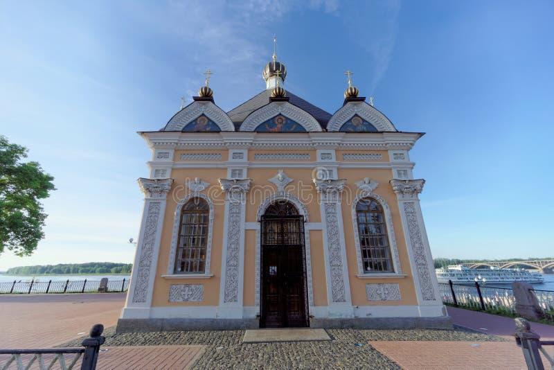 雷宾斯克,俄罗斯 - 6月3日 2016年 圣尼古拉斯教堂在雷宾斯克 库存照片