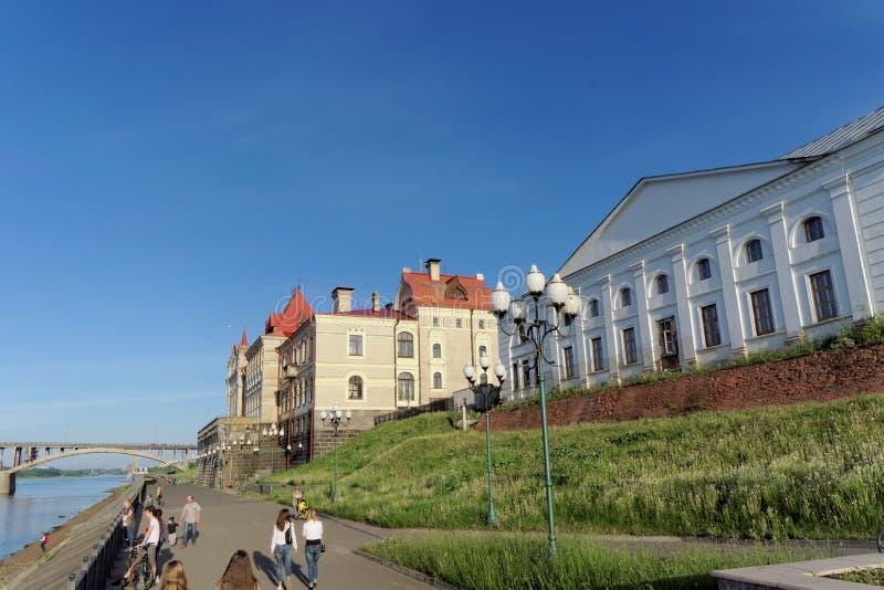 雷宾斯克,俄罗斯 - 6月3日 2016年 雷宾斯克状态历史,建筑和艺术博物馆储备 库存照片