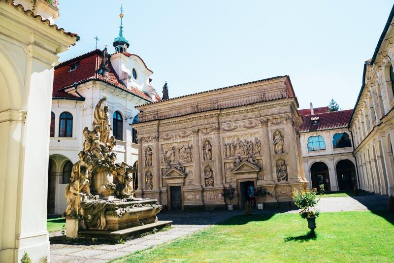 洛雷托省布拉格老建筑学在捷克 库存照片