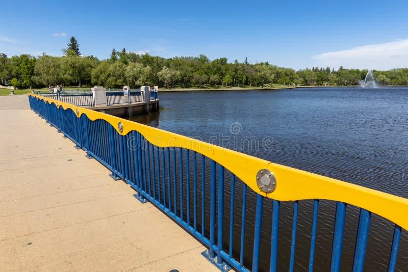 雷日纳城市公园在加拿大 免版税库存图片