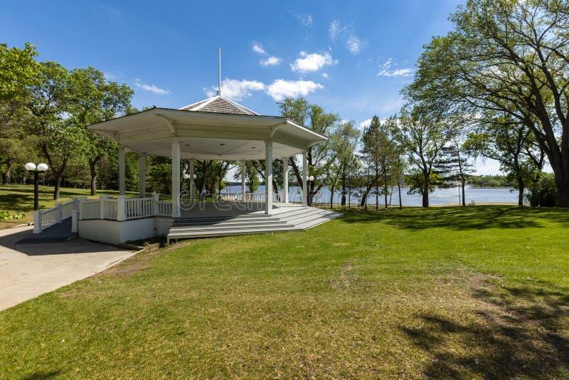雷日纳城市公园在加拿大 免版税库存照片