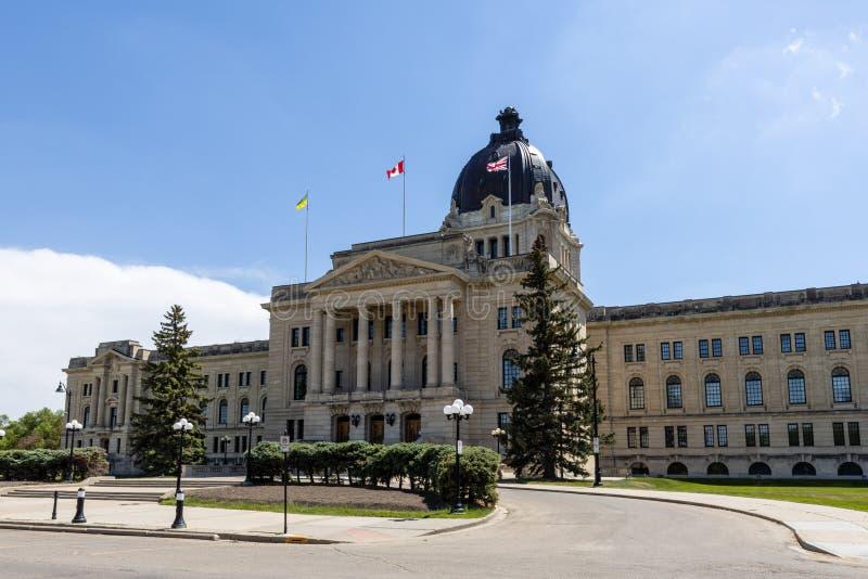 雷日纳政府大厦在加拿大 图库摄影