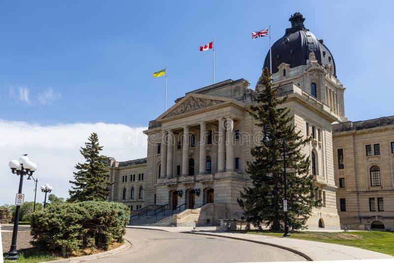 雷日纳政府大厦在加拿大 库存照片