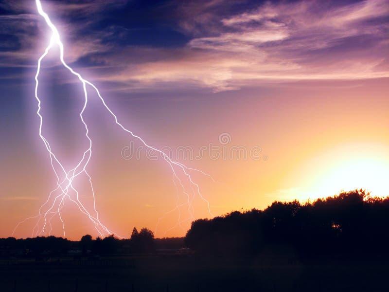 雷暴 库存照片