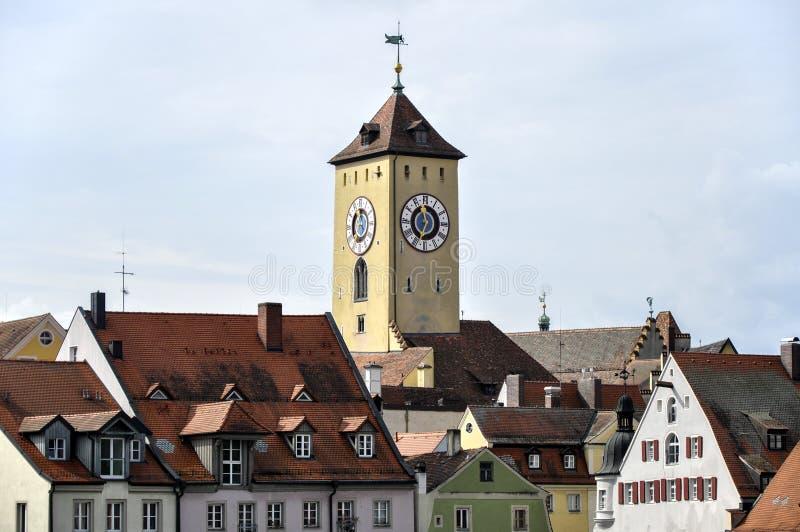 雷根斯堡(德国)老城镇厅 库存图片