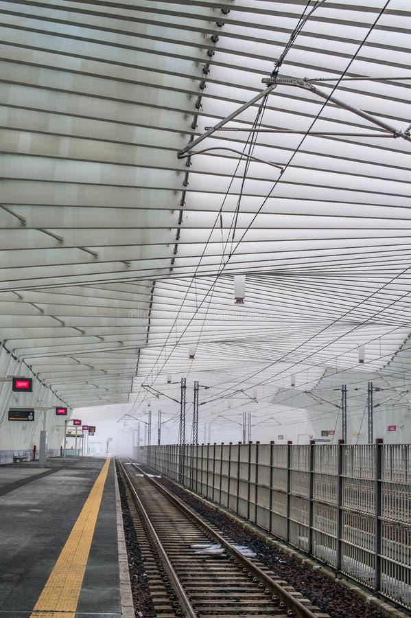 雷焦艾米利亚Mediopadana AV Railstation 免版税库存照片