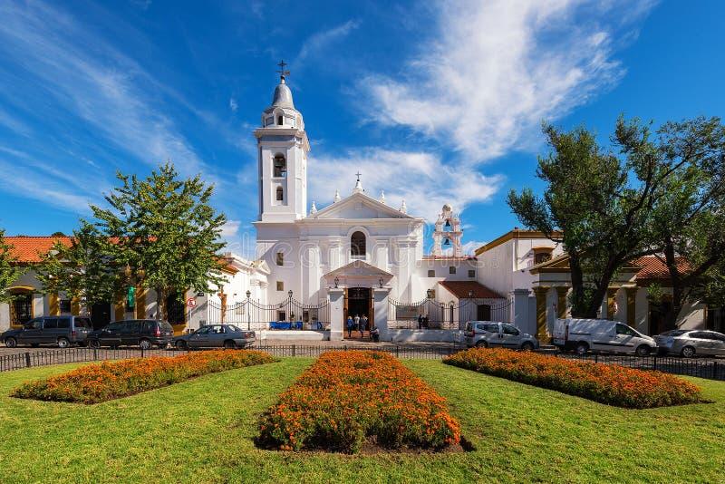 雷科莱塔教会致力Nuestra夫人del Pilar 图库摄影