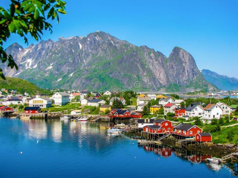 雷讷,罗弗敦群岛海岛,挪威 免版税库存照片