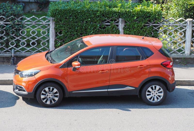 雷诺Captur汽车在米兰 免版税库存照片