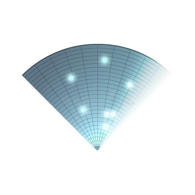 雷达图标 背景设计例证工友白色 雷达显示器 向量例证