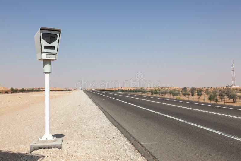 雷达在高速公路的速度控制照相机 免版税库存图片