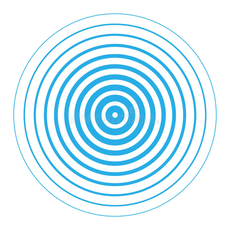 雷达显示器同心圆元素 皇族释放例证