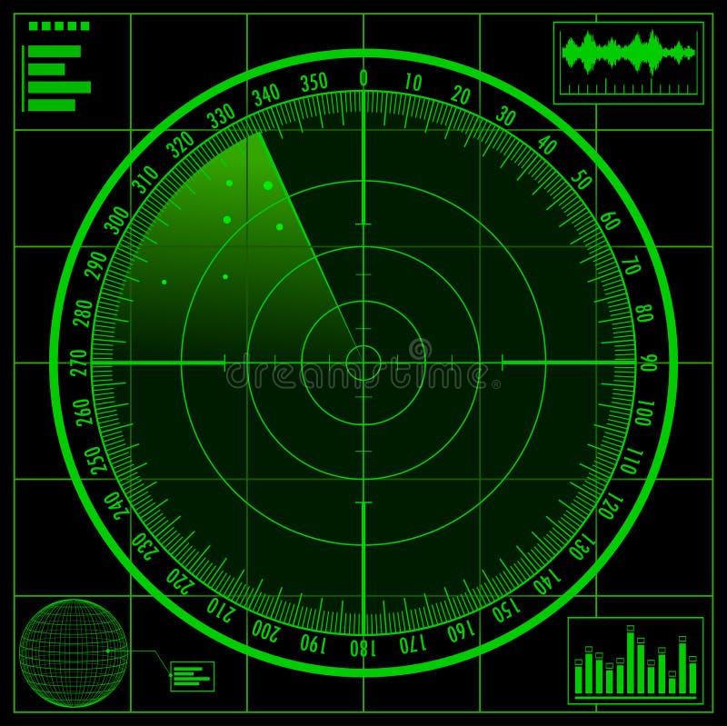 雷达网 向量例证