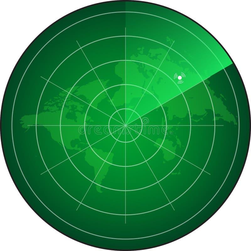 雷达网 库存例证