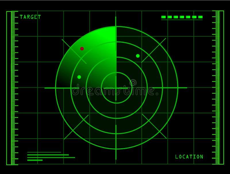 雷达 皇族释放例证
