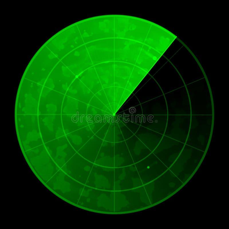 雷达 库存例证