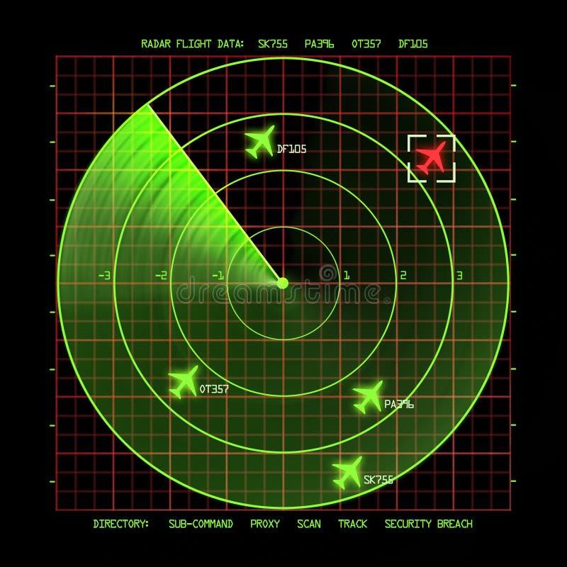 雷达 向量例证