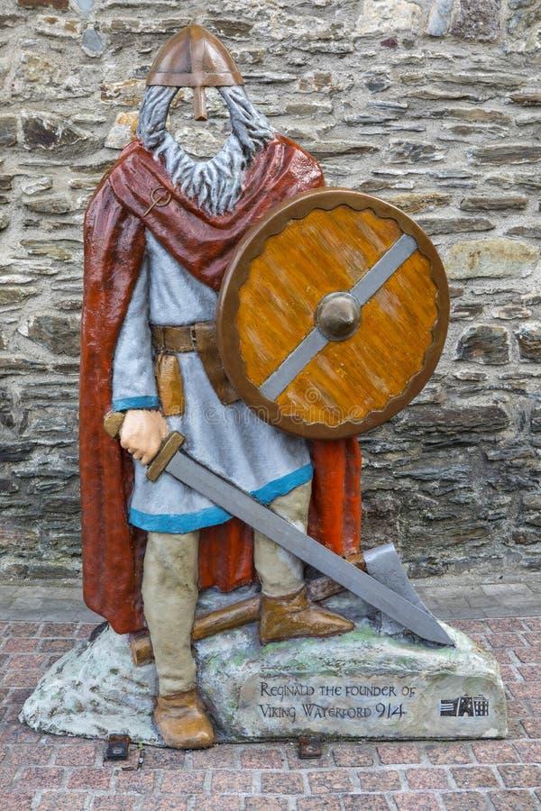 雷金纳德北欧海盗沃特福德的创建者在爱尔兰 免版税库存照片