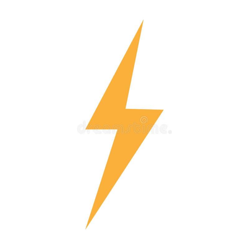 雷闪电一刹那螺栓标志白色背景 皇族释放例证