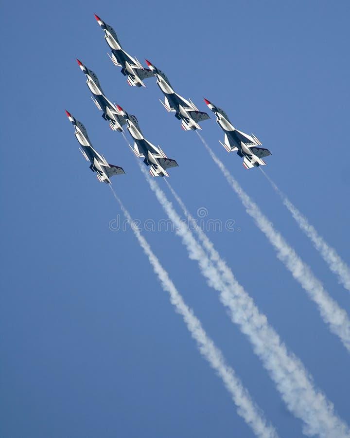 雷鸟美国空军 免版税图库摄影