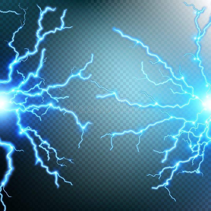 雷暴和闪电 10 eps 皇族释放例证