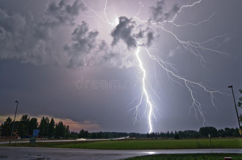 雷击在瑞典 库存照片