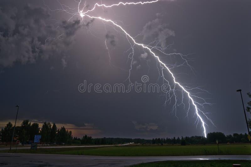 雷击在瑞典 免版税库存照片