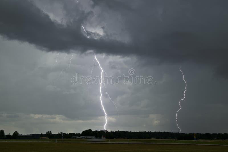 雷击在瑞典 图库摄影
