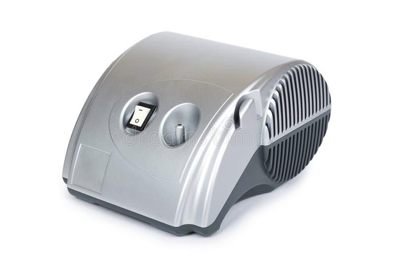 雾化器吸入器设备,呼吸疗法为家庭使用 背景查出的白色 图库摄影