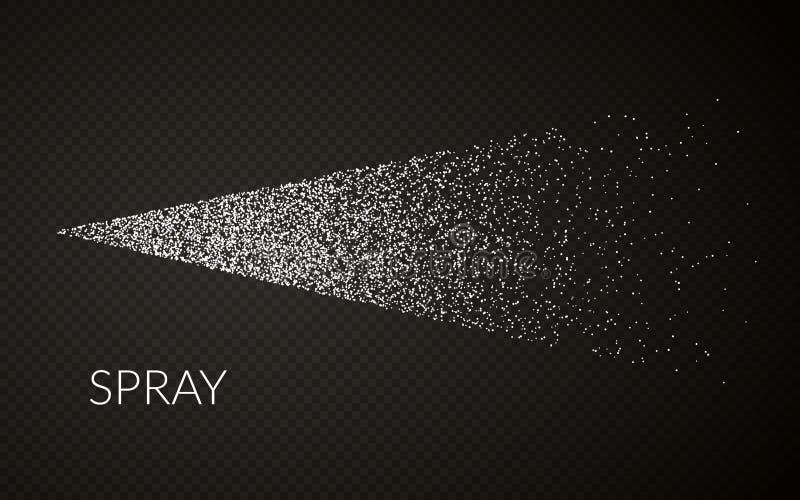 雾化器喷水薄雾  传染媒介化妆作用 触发器与浪花或小河喷管的喷雾器作用 r 库存例证