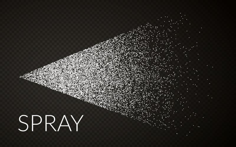 雾化器喷水薄雾  传染媒介化妆作用 触发器与浪花或小河喷管的喷雾器作用 r 向量例证