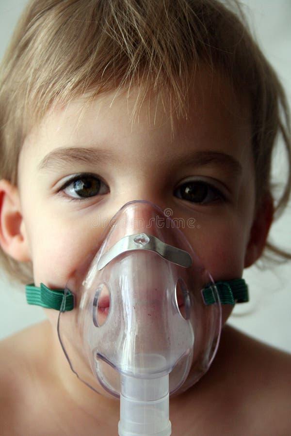 雾化器小儿科处理 库存照片