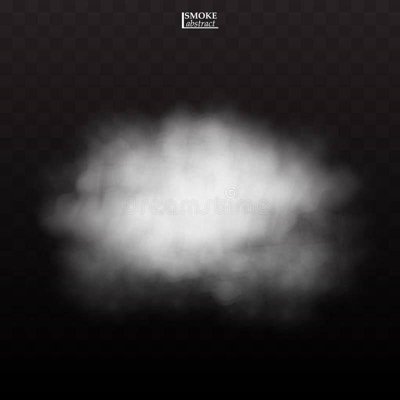 雾在透明背景的烟云 皇族释放例证