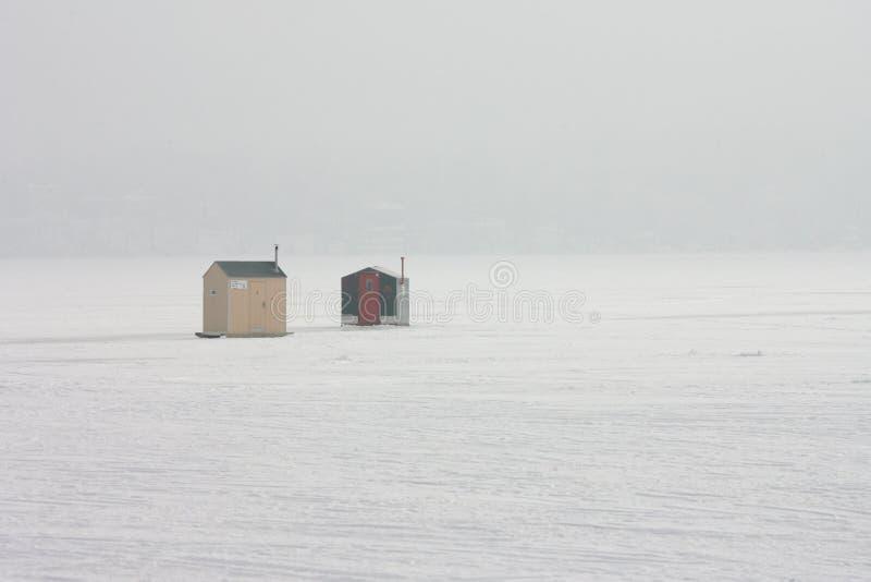 雾安置冰早晨 库存照片