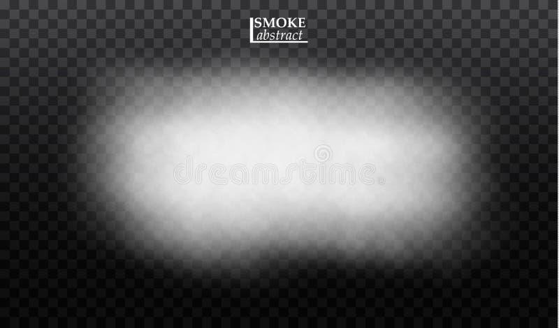 雾或烟透明特技效果 向量例证