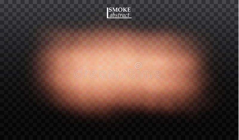 雾或烟透明特技效果 皇族释放例证