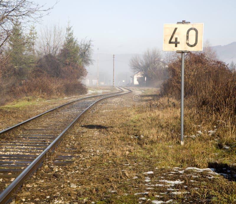 雾铁路运输 库存图片