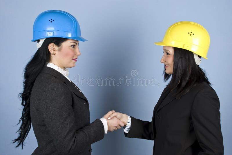 震动妇女的建筑师现有量 库存图片