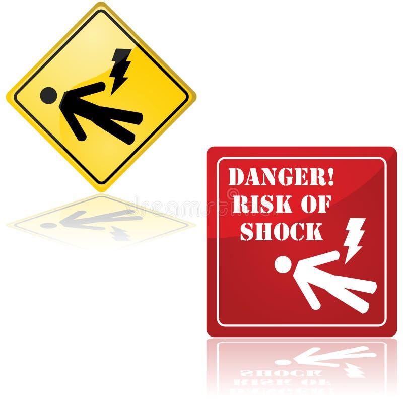 震动的危险 向量例证