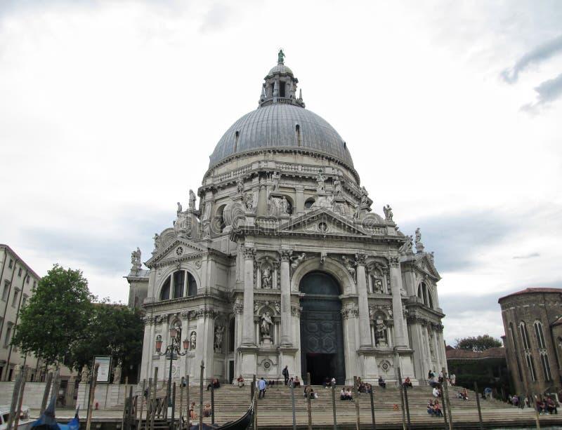 震惊安康圣母圣殿威尼斯意大利 免版税图库摄影
