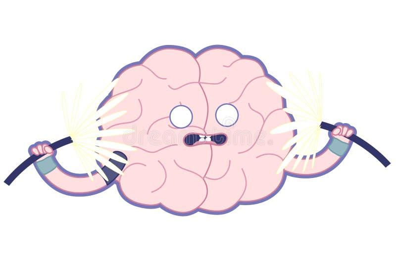 震惊脑子平的例证,训练您的脑子 库存例证