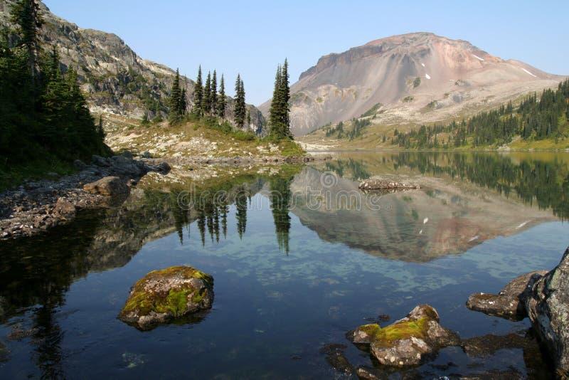 震惊高山的湖 免版税库存图片