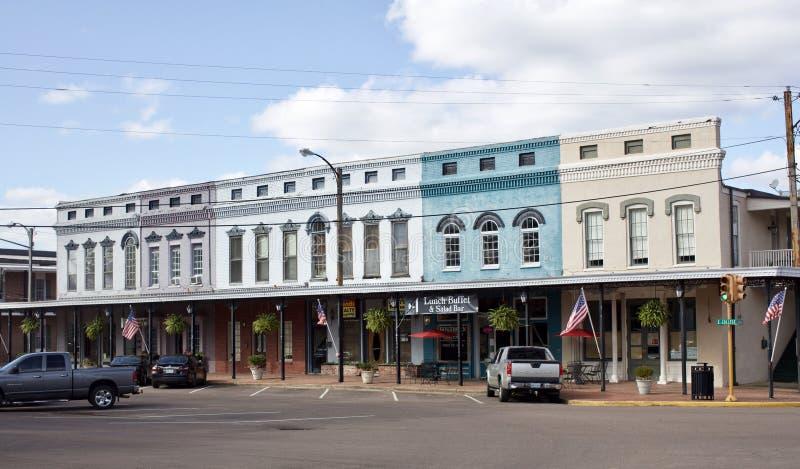 霍利斯普林斯密西西比市中心大厦 免版税库存照片