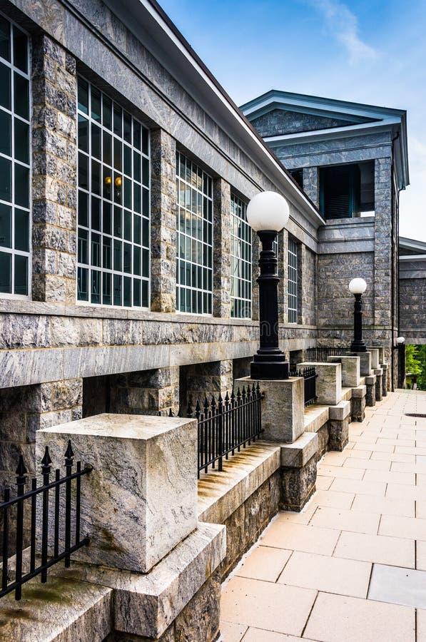 霍华德县电路法院大楼在Ellicott市,马里兰 库存照片