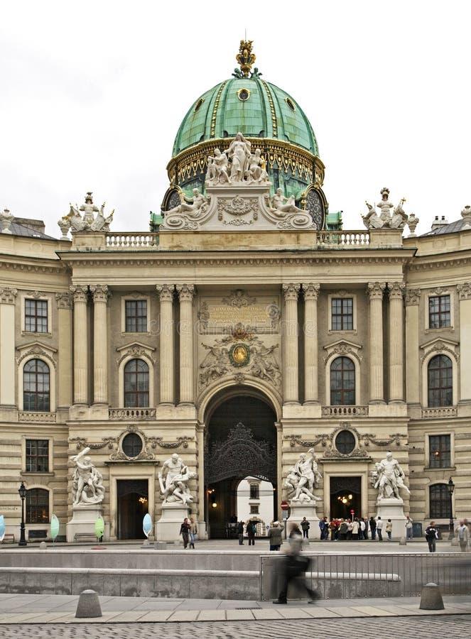 霍夫堡宫圣迈克尔的翼在维也纳 奥地利 免版税图库摄影