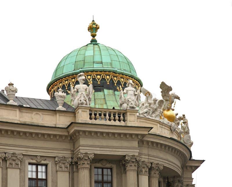 霍夫堡宫圣迈克尔的翼在维也纳 奥地利 免版税库存图片
