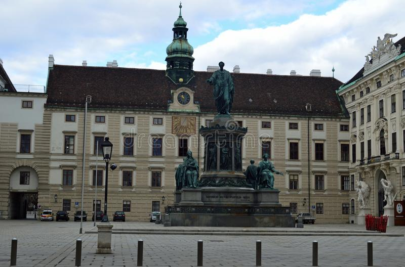 霍夫堡宫Amalienbourg翼,维也纳 免版税库存图片