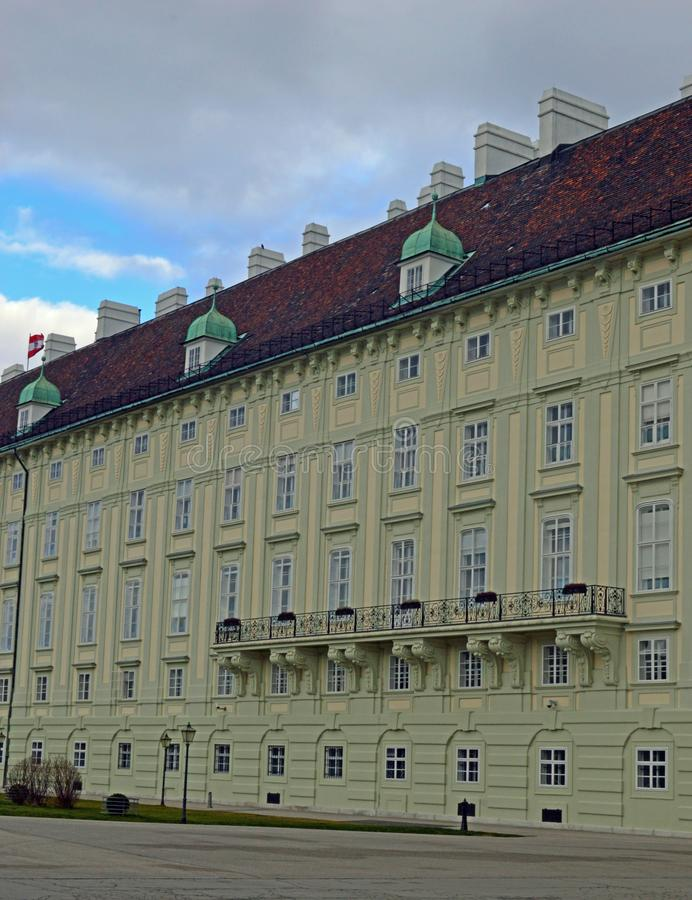 霍夫堡宫Leopoldine翼维也纳 免版税库存图片